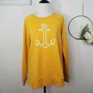 Old Navy Mustard Yellow Anchor Sweatshirt